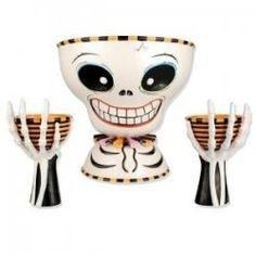 bowl server, chips, glittervill halloween, bones, bone chip, piec set, chip dips, halloween skeleton, dip bowl