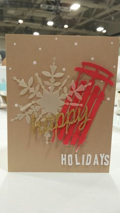 Stampin' Up! demonstrator Patty's project showing a fun alternate use for the Watercolor Winter Simply Created Card Kit.