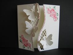 Butterfly gate-fold by sistersandie - Cards and Paper Crafts at Splitcoaststampers