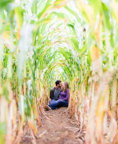 Neat farm engagement photo