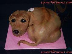 cake tutorial, dog cakes, indi cake, cake decor, carv dog, monkey