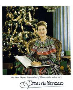 christma card, royal monaco, christmas cards, royal famili, european royal, grace kelli, monacoprincess grace, grace de, families