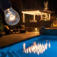 Patio and Deck Lighting Ideas on Pinterest Patio Lighting, Led and Hang Curtains