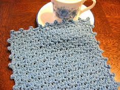 Wash cloth. Very pretty stitch
