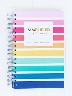 The Simplified Date Book™ by Emily Ley   August 2013 - August 2014. $24 http://pict.com/p/5f