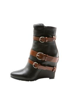 Contrast Buckle Ankle Boot