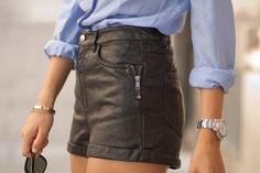 leathershort, detail, cloth, leather short, favorit style, inspir, fashion blog, shorts, closet