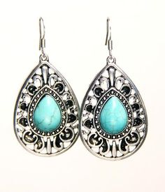 Turquoise raindrop earrings  Cowboys Daughter | JEWELRY