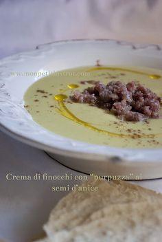 """Crema di finocchi con """"purpuzza"""" ai semi d'anice / Cream of fennel with """"sausage"""" to aniseed"""