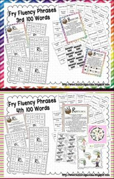 Fry Phrases (1st-6th) Fluency Games and Intervention Set Bundle