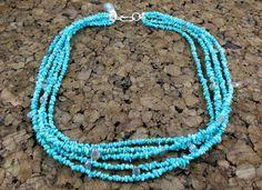 Turquoise And Labradorite Necklace  Talia Serinese Jewelry  taliaserinese.etsy.com