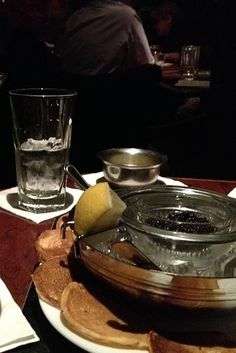 Caviar and Vodka at the Russian Vodka Room