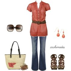 Spring Coral, created by archimedes16 on Polyvore