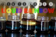 Make a liquid rainbow