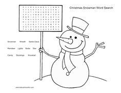 snowman word search | christmas snowman word search 300x231 christmas snowman word search