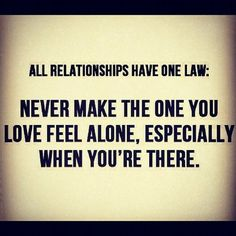Law for relationships...
