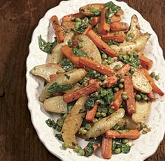 Carrot, Fingerling Potato, and Pea Ragoût