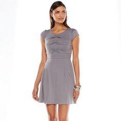 LC Lauren Conrad Bow Fit & Flare Dress - Women's #Kohls