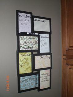 dry erase calendar weekly calendar