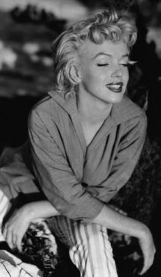 "Marilyn on the set of ""River of No Return""..."