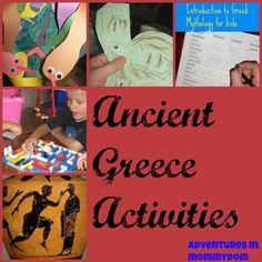 Ancient Greece Activities from @Ticia Albano Albano Adventures in Mommydom