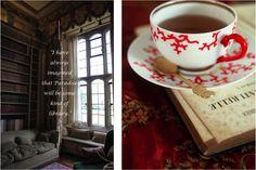 book worm, librari, teacup