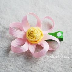 How to make Loopy Ribbon Flowers- a step by step tutorial.