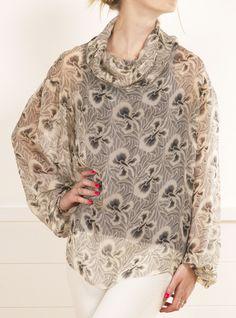 Silk cowl neck blouse from La Perla