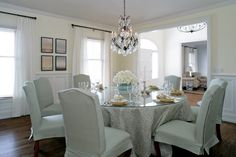 I'm all about the round dining room tables.