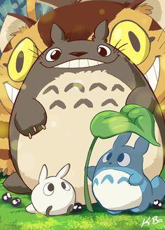 Studio Ghibli: My Neighbor Totoro Art Card by kevinbolk.deviantart.com on @deviantART