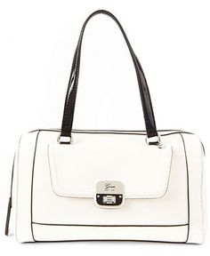 GUESS Handbag, Cordova Box Satchel - Guess - Handbags & Accessories ...