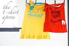 t-shirt apron sew, idea, easi tshirt, crafti, tshirt apron, aprons, t shirts, diy, thing
