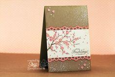 craft, stampin up easter blossom, spring flower, colors, branch