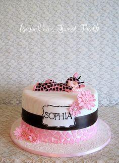 babi giraff, baby shower cakes, birthday sweets, animal print cakes, first birthdays, 1st birthdays, giraff cake, baby cakes, baby showers