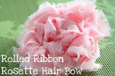 Rolled Ribbon Rosette Hair Accessory Tutorial- Perfect for Easter from MomAdvice.com.