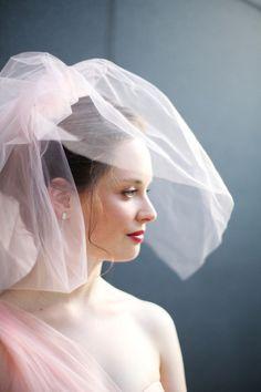 A blush veil.