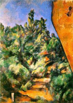 Bibemus. The Red Rock - Paul Cezanne 1897