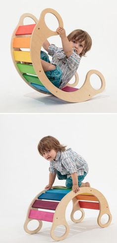 Rainbow Rocker #kids #design #rocker #colors