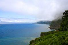 North coast of Madeira Island, a view from Chão da Ribeira