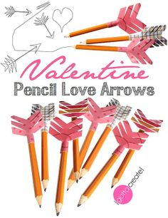 Make your own Pencil Love Arrows with this tutorial from I Gotta Create!  Let your love fly on #Valentines, or for a #wedding, #anniversary, or teacher appreciation!