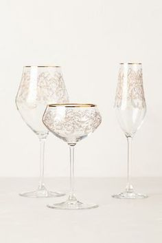Beautiful handblown stemware from #anthropologie sets the stage for a stellar party! #holidaygiving #greatgifts