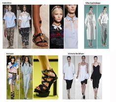 My favourite styles of Spring Summer 2014 COLLECTION apparel, shoes and make up by Valentino, Vika Gazinskaya, Versace, Victoria Beckham  ------- i miei preferiti della COLLEZIONE moda Primavera Estate 2014 abbigliamento scarpe accessori e trucco