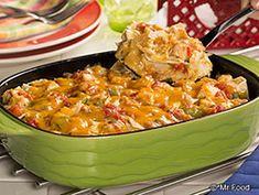 Light King Ranch Chicken Casserole - Enjoy your favorite Texan dinner casserole but in a lighter and healthier way!
