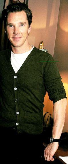 Cumberbatch cardigan.