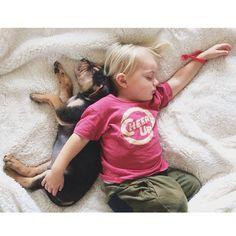 Jessica Shyba: Working hard at snuggling #dreamjob #theoandbeau