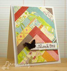 layered card - good way to use up scraps