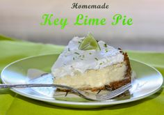 Homemade Key Lime Pie with Graham Cracker Crust