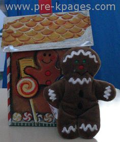 pre-k Gingerbread fun from pre-k pages