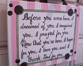 Items similar to Nursery Decor, baby boy or girl, No one will ever know the strength of my love for you quote sign, new mom gift on Etsy. , via Etsy.