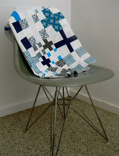 Modern Crosses Quilt Top by wishes, true and kind, via Flickr